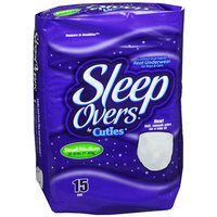 First Quality Sleep Overs Youth Pants-Size 45lb to 65lb,15/Pack