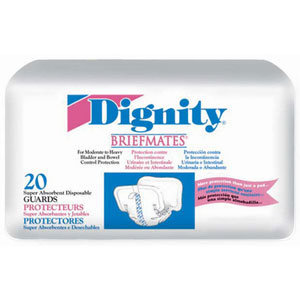 Humanicare Dignity Briefmates Super Guards Pads, 30ea, Dignity 30074