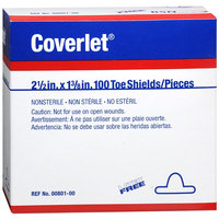 Bsn ; Coverlet BSN Coverlet Fabric Shapes Toe Shields, 100ea