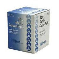 Dynarex Sterile Gauze Pads, 3 x 3, 12 ply, 3 Boxes of 100