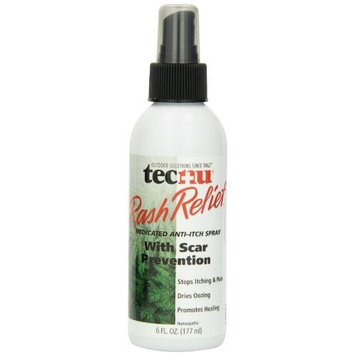Grabber Outdoors Tecnu Rash Relief Medicated Anti-itch Scar Prevention Spray Bottle, 6-Ounce