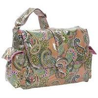 Kalencom Laminated Buckle Diaper Bag - Florentine Paisley - Pink