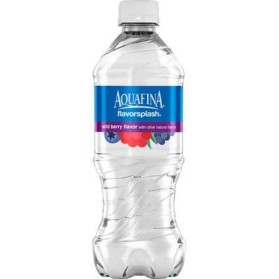 Aquafina Flavor Splash Naturally Flavored Wild Berry Water Beverage
