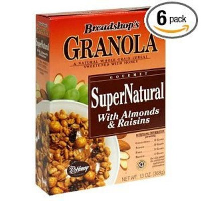 ÿBreadshop's Breadshop's Granola Organic SuperNatural Cereal with Almonds & Raisins, 13 oz(Pack of 18)