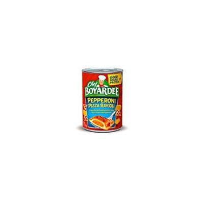Chef Boyardee Pepperoni Pizza Ravioli 15 Oz (12 Cans)