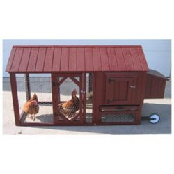 Little Cottage Co. Little Cottage Company Atlanta Chicken Tractor with Chicken Run
