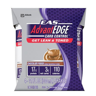 EAS AdvantEdge Carb Control Nutritional Shakes, Chocolate Fudge