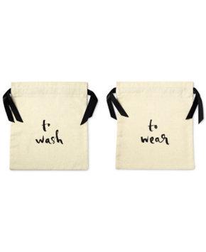 KATE SPADE NEW YORK Wash and Wear Lingerie Bag Set - BEIGE