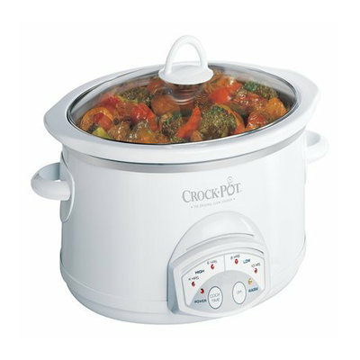 Crock-Pot Programmable Slow Cooker - White (5.5Qt)