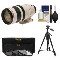 Canon EF 100-400mm f/4.5-5.6 L IS USM Telephoto Zoom Lens with 3 UV/ND8/CPL Filters + Tripod + Kit for EOS 6D, 70D, 5D Mark II III, Rebel T3, T3i, T4i, T5, T5i, SL1 DSLR Cameras