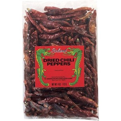 Roland Dried Whole Chili Peppers, 4-Ounce (Pack of 10)