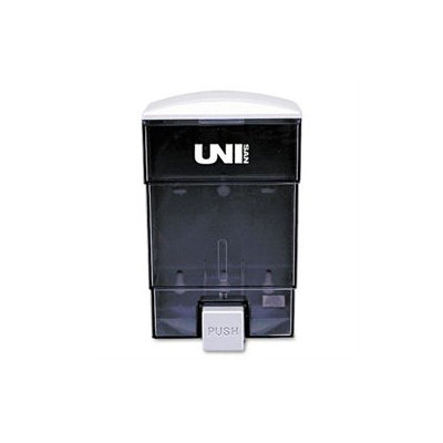 UNISAN UNS03019 Black Deluxe Plastic Liquid Soap Dispenser 50 oz.