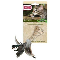 Original Equipment Manufacturer KONG Naturals Straw Cone with Feathers Catnip Toy, Colors Vary