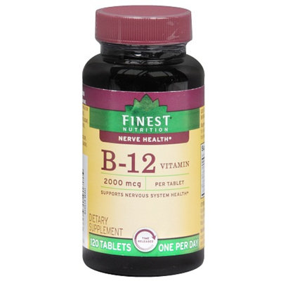Finest Nutrition B-12 Vitamin 2000 mcg Dietary Supplement Tablets Time Released