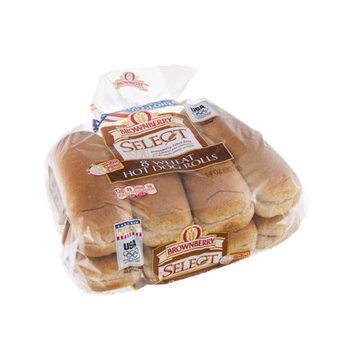 Brownberry Select Rolls Hot Dog Wheat - 8 CT