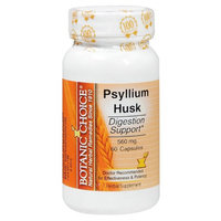 Botanic Choice Psyllium Husk 560 mg Herbal Supplement Capsules