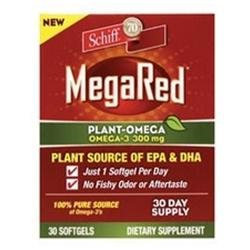 Schiff MegaRed Plant-Omega 3 - 300 mg - 30 Softgels