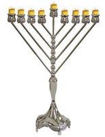 Artsy Casa Lamp Lighters Ultimate Judaica Menorah Silver Plated 18H
