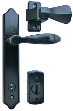 Majestique Deluxe Storm Door Handle Set with Deadbolt Painted Black
