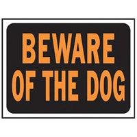 Hy-Ko 9 X 12 Plastic Beware Of Dog Sign