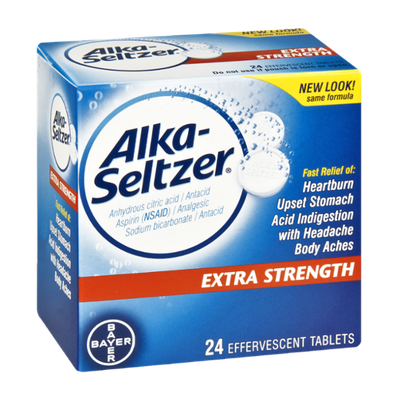 Alka-Seltzer Extra Strength Effervescent Tablets - 24 CT