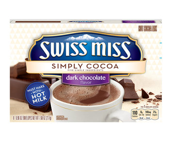 Swiss Miss Simply Cocoa Hot Cocoa Mix Dark Chocolate