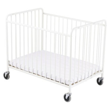 StowAway Steel folding Crib - White by Foundations