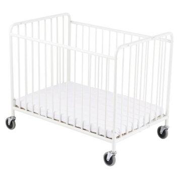 StowAway Steel folding Crib - White by Foundations