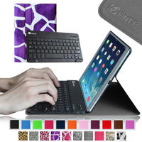 Fintie SmartShell Cover with Wireless Bluetooth Keyboard Case for Apple iPad Air / iPad 5, Giraffe Purple
