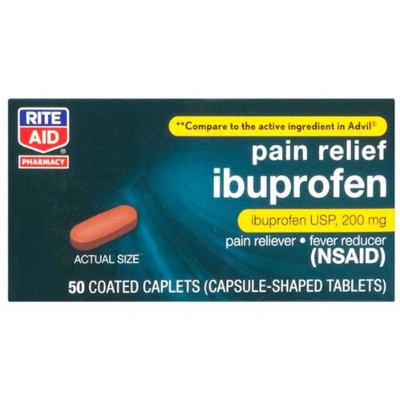 Rite Aid Ibuprofen, Coated 50 Tablets