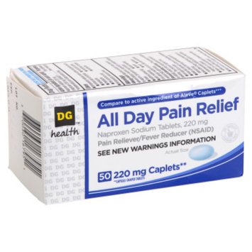 DG Health All-Day Pain Relief Caplets - 50 ct