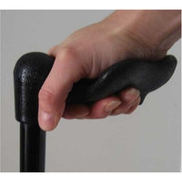 Harvy Unisex Folding Adjustable Shaft Palm Grip Cane Black -Affordable Gift! Item #DHAR-9052808