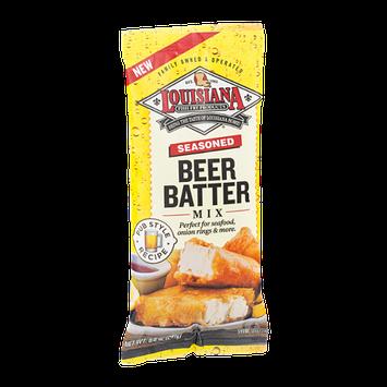 Louisiana Fish Fry Products Beer Batter Mix Seasoned