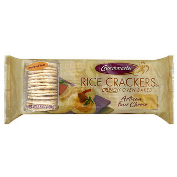 Crunchmaster Artisan Four Cheese Rice Crackers