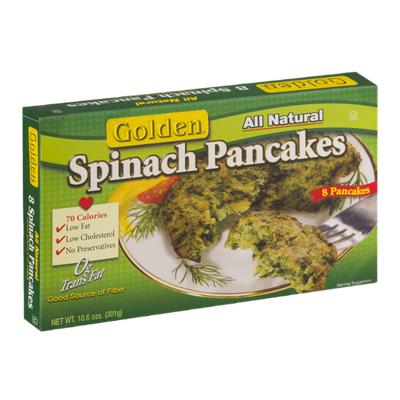 Golden Spinach Pancakes - 8 CT