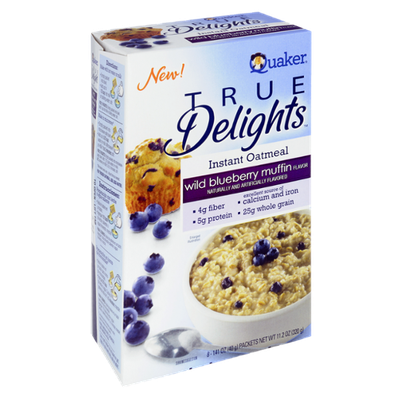 Quaker® True Delights Instant Oatmeal Wild Blueberry Muffin Flavor Packets