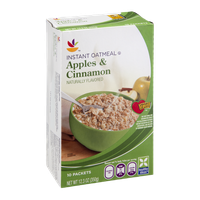 Ahold Instant Oatmeal Apples & Cinnamon - 10 CT