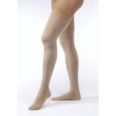 Jobst Women's Opaque 15-20 mmHg Open Toe Thigh High Support Stocking Size: Large, Color: Natural