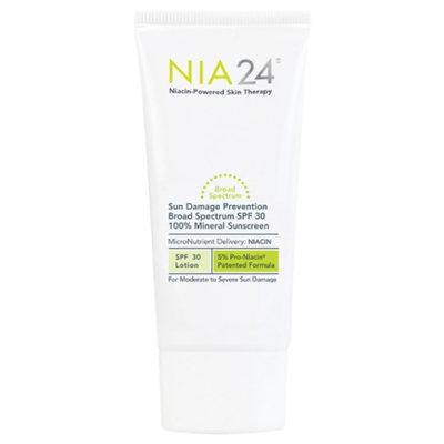 NIA24 Sun Damage Prevention 100% Mineral Sunscreen, SPF 30