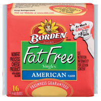 Borden Singles Fat Free American Cheese, 16 ct
