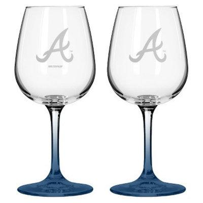 Boelter Brands MLB Braves Set of 2 Wine Glass - 12oz