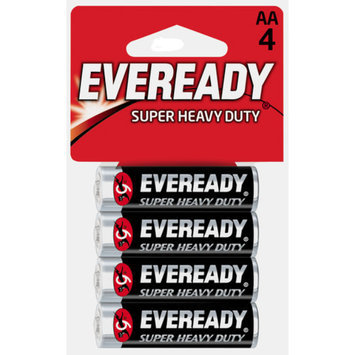 Eveready 1215SW-4 4 Pack AA Heavy Duty Batteries