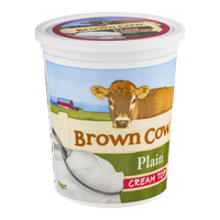 Brown Cow Plain Cream Top Yogurt