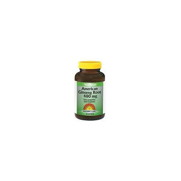 American Ginseng Root 480mg Nature's Life 50 Caps