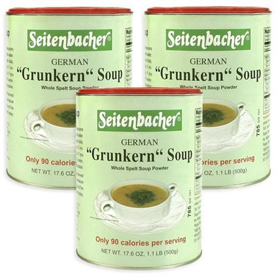 Seitenbacher Grunkern (Spelt) Soup Mix, 17.6-Ounce (Pack of 3)