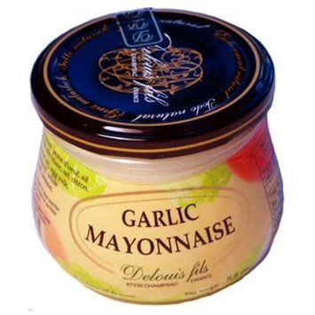 Delouis Fils Garlic Mayonnaise, 8.8-Ounce Bottle (Pack of 4)
