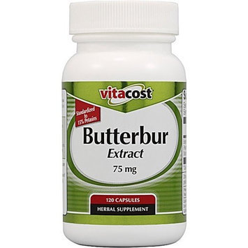 Vitacost Brand Vitacost Butterbur Extract - Standardized -- 75 mg - 120 Capsules