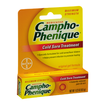 Campho-Phenique Medicated Cold Sore Treatment Maximum Strength Original Gel