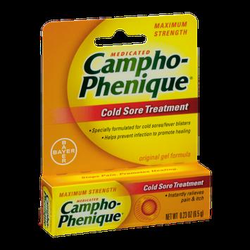 Campho-Phenique Medicated Cold Sore Treatment Maximum Strength Original Gel