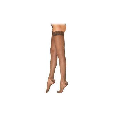 Sigvaris EverSheer 781NMLW94 15-20 Mmhg Closed Toe Medium Long Thigh Hosiery For Women Nightshade